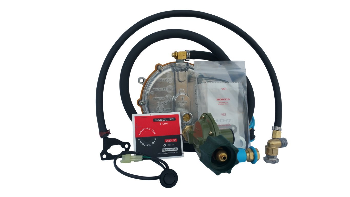 Hutch Mountain New Honda EU2200i Propane, Natural Gas Gasoline Generator TriFuel Kit