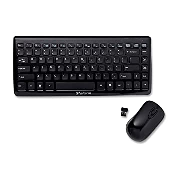 01a1e7b36d6 Amazon.in: Buy Verbatim 97472 Mini Wireless Slim Keyboard and Mouse (Black)  Online at Low Prices in India   Verbatim Reviews & Ratings