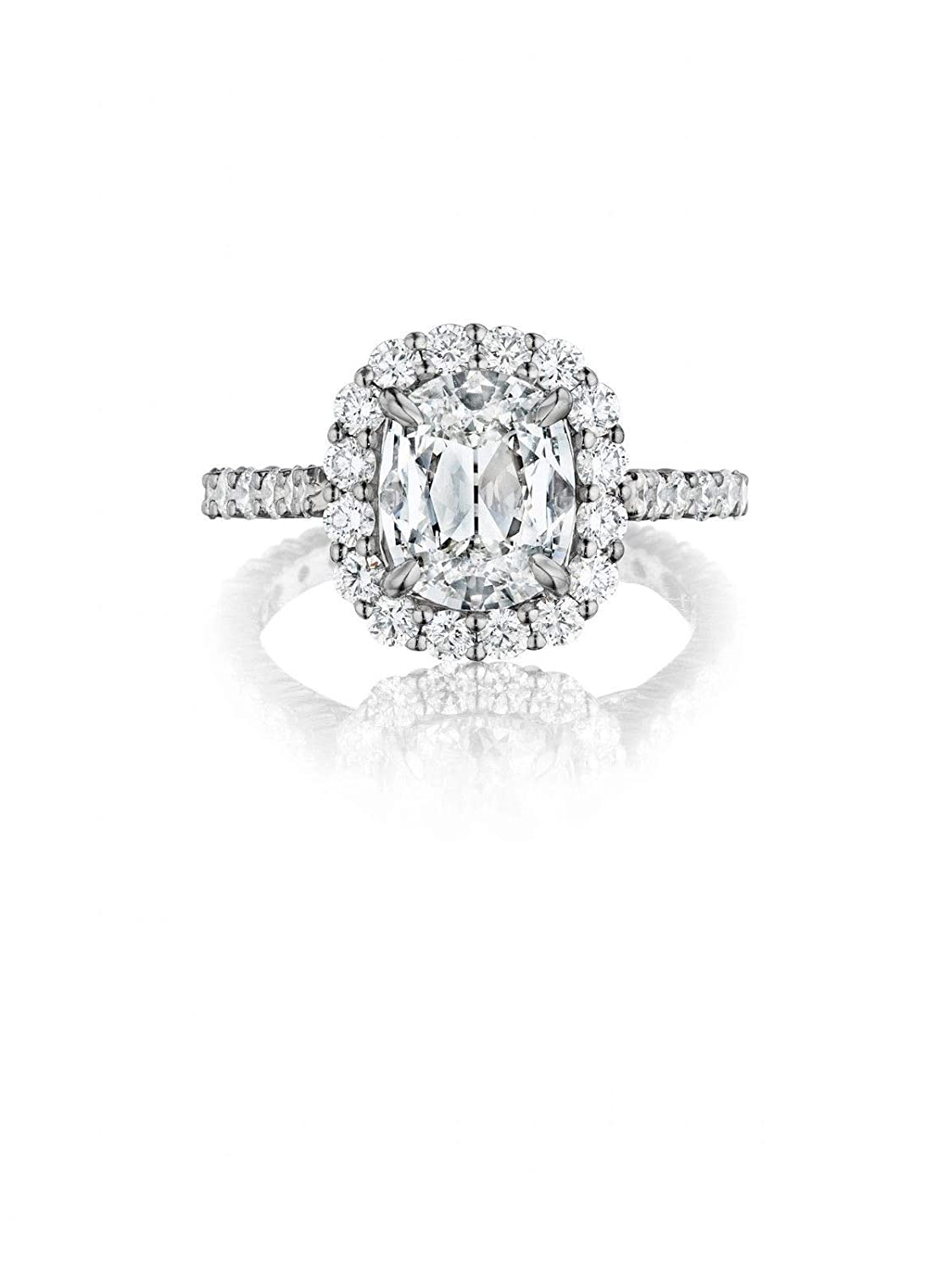 Henri Daussi Cushion Gia2 45ct Diamond Engagement Ring Retail Price