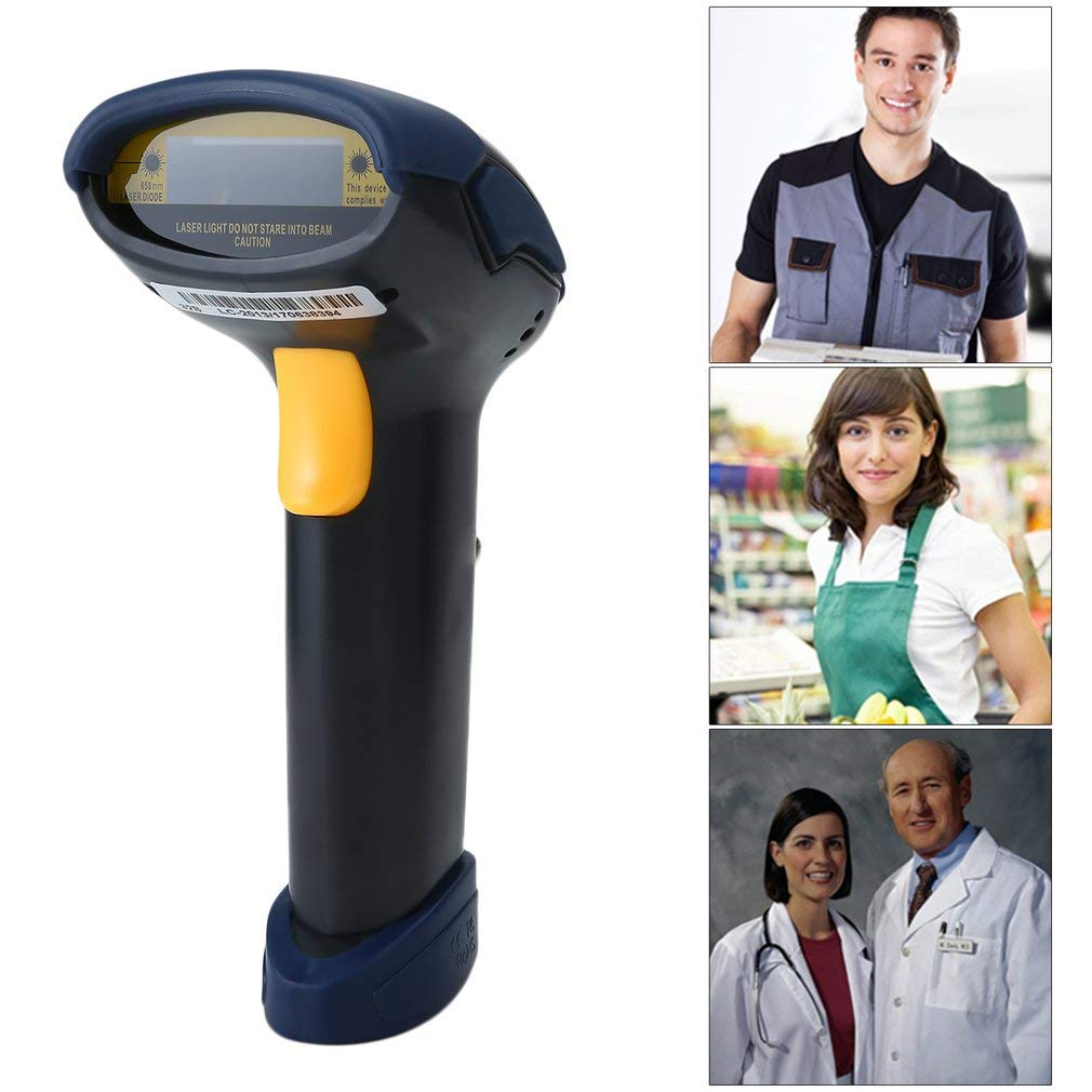 Portable Handheld USB Wired Automatic Barcode Scanner Scanning Barcode Bar-code Reader Black Simple Installation
