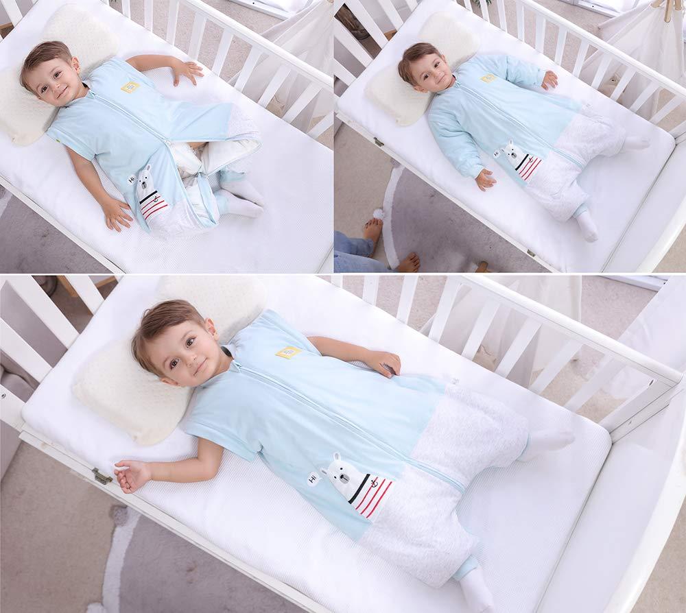 con Orso Polare Blu L:95CM//24-36monate Blu 2,5 tog per Neonati per Tutto LAnno con Piedi schlabigu Pagliaccetto Invernale per Bambini