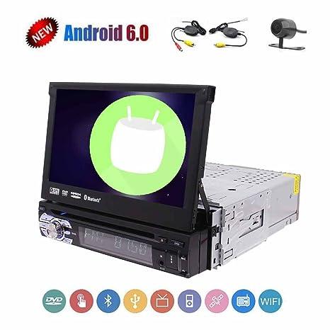 DIN DIN 1 Sola Radio de los GPS de 7 Pulgadas Reproductor de DVD 6.0 androide del Coche ...