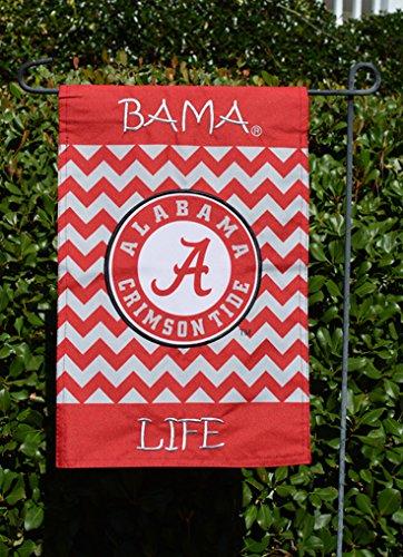 Alabama Crimson Tide U0026quot;Bama Lifeu0026quot; Chevron Garden Flag