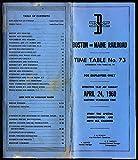 Boston & Maine Railroad employee timetable #73 4/24 1960