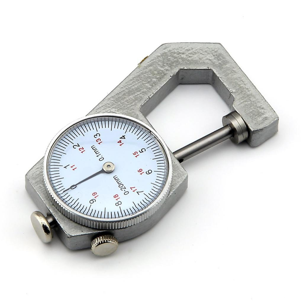 Bolsillo Esfera Redonda grosor Medició n Calibre Gage Herramienta rango de 0 a 20 mm, precisió n de 0,1 mm precisión de 0 1mm Owfeel(TM)