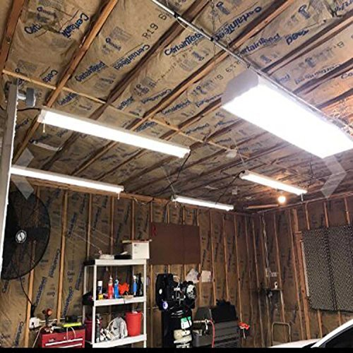 Residential Garage Led Lights: Hykolity 4FT Linkable LED Utility Shop Garage Hanging