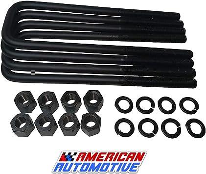 Amazon Com American Automotive K1500 K2500 K3500 1 2 Rear Lift U Bolts 4pcs 12 5 Extra Long Oem Material Automotive