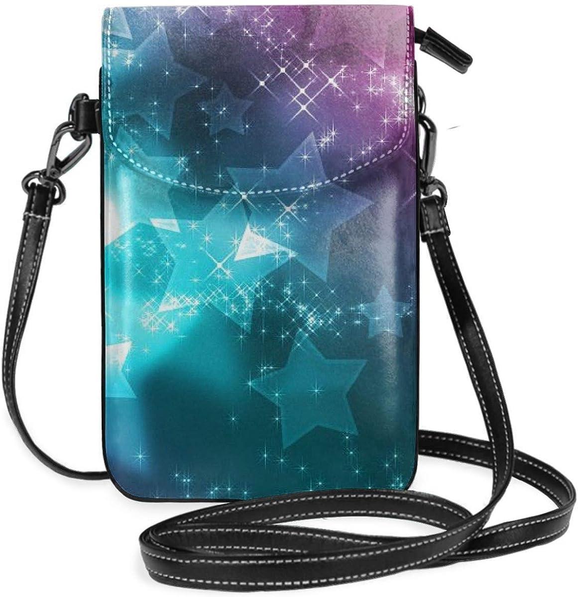 Ahdyr Monedero pequeño para teléfono celular para mujer, de cuero, con interior de nube femenino, ranuras para tarjetas, bolsos cruzados, billetera, bandolera