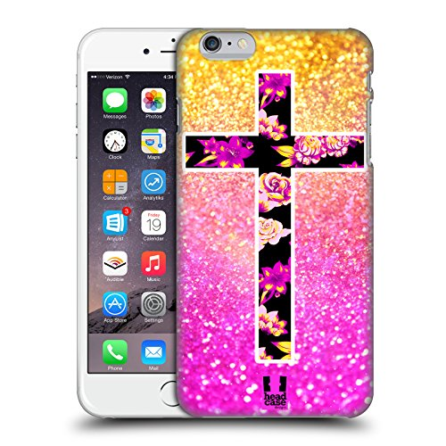Head Case Designs Cross Glittery Lifestyle Hard Back Case for iPhone 6 Plus/iPhone 6s -