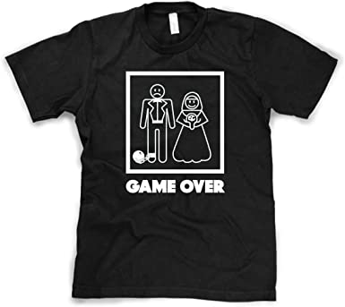 Game Over T-Shirt Mens Womens Funny gift Present Wedding marriage married