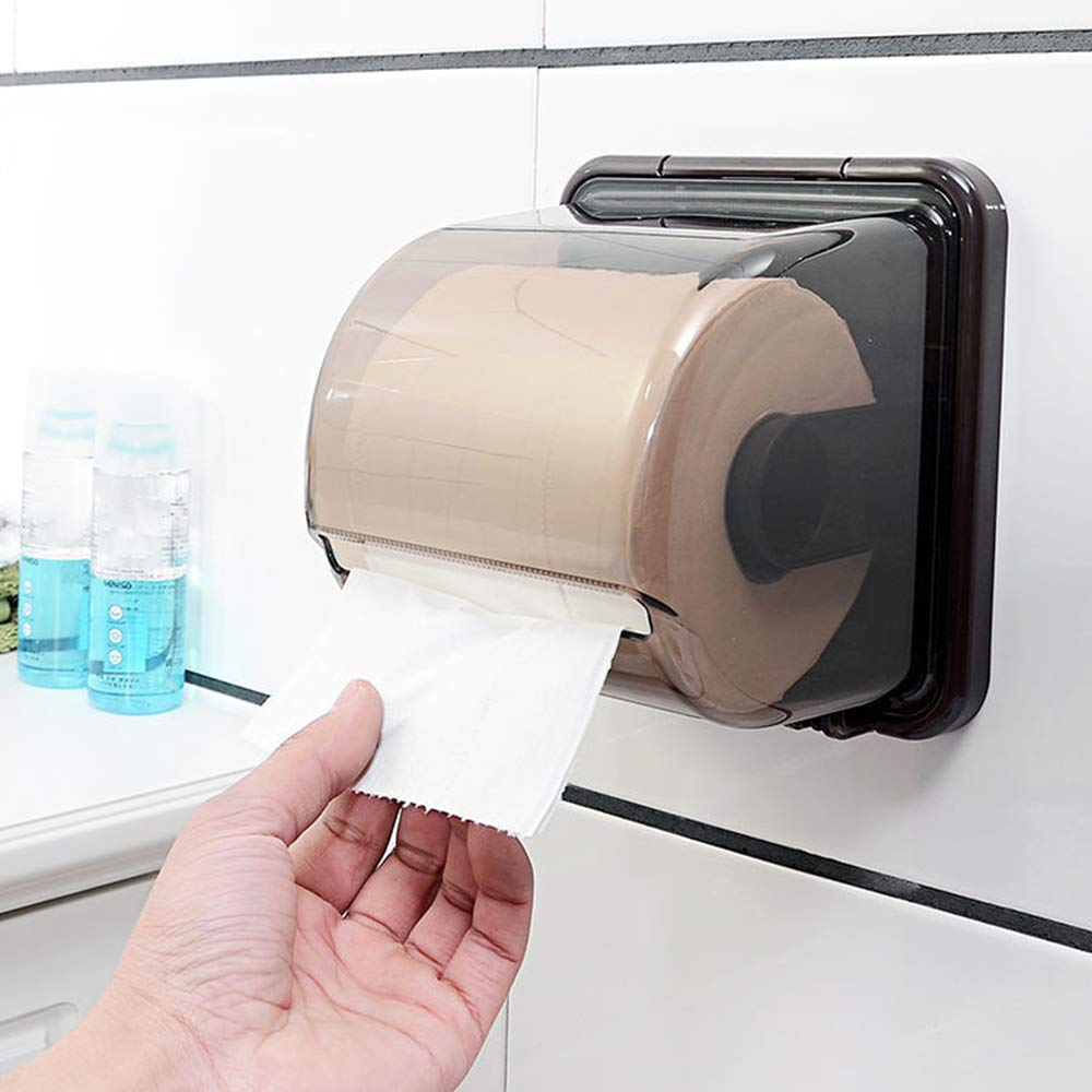 ERT Paper Towel Dispenser,Waterproof Suction Cup Wall-Mounted Paper Towel Holder Roll Holder Does Not Rust Toilet Paper Holder,A