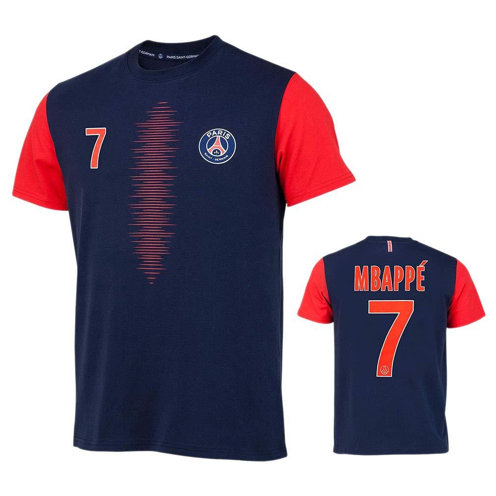 PSG - Official Paris Saint-Germain 'Mbappé' Kids T-Shirt - Blue, Red