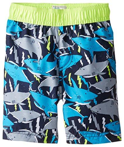 The Children's Place Little Boys' Shark Swim Short, Tidal, 5T