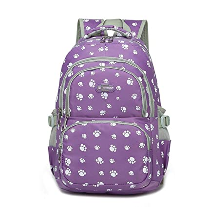749f6ee6bcaf Image Unavailable. Image not available for. Color  C-Xka Puppy Paw Printing  Candy Colors Kids School Backpacks ...
