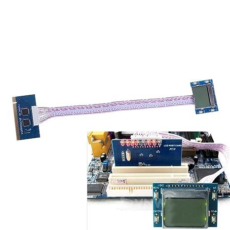 PCI Placa base de diagnóstico Analizador de probador LCD Tarjeta ...