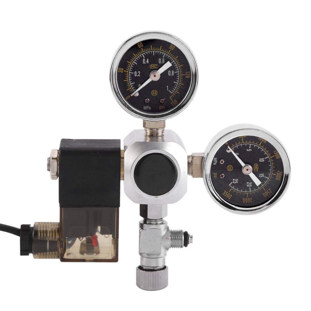 R/égulateur R/éducteur de Pression CO2 Electrovanne Double Jauge de Pression Soupape /à Sol/éno/ïde Compteur de Bulles Pour Syst/ème dAquarium
