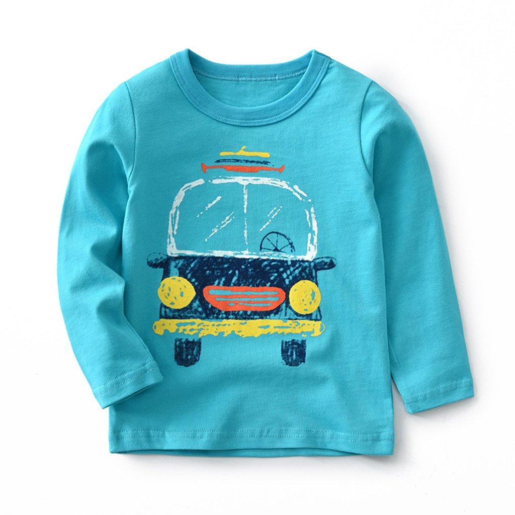 Bebé Manga Larga Camiseta Sudaderas Pull-over Algodón Top Blusas Pijama 1-2 Años: Amazon.es: Bebé