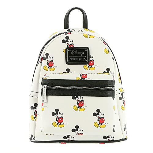 576936487ba Loungefly Disney Classic Vintage Mickey Mouse Vegan White Mini Backpack  Purse  Amazon.ca  Luggage   Bags