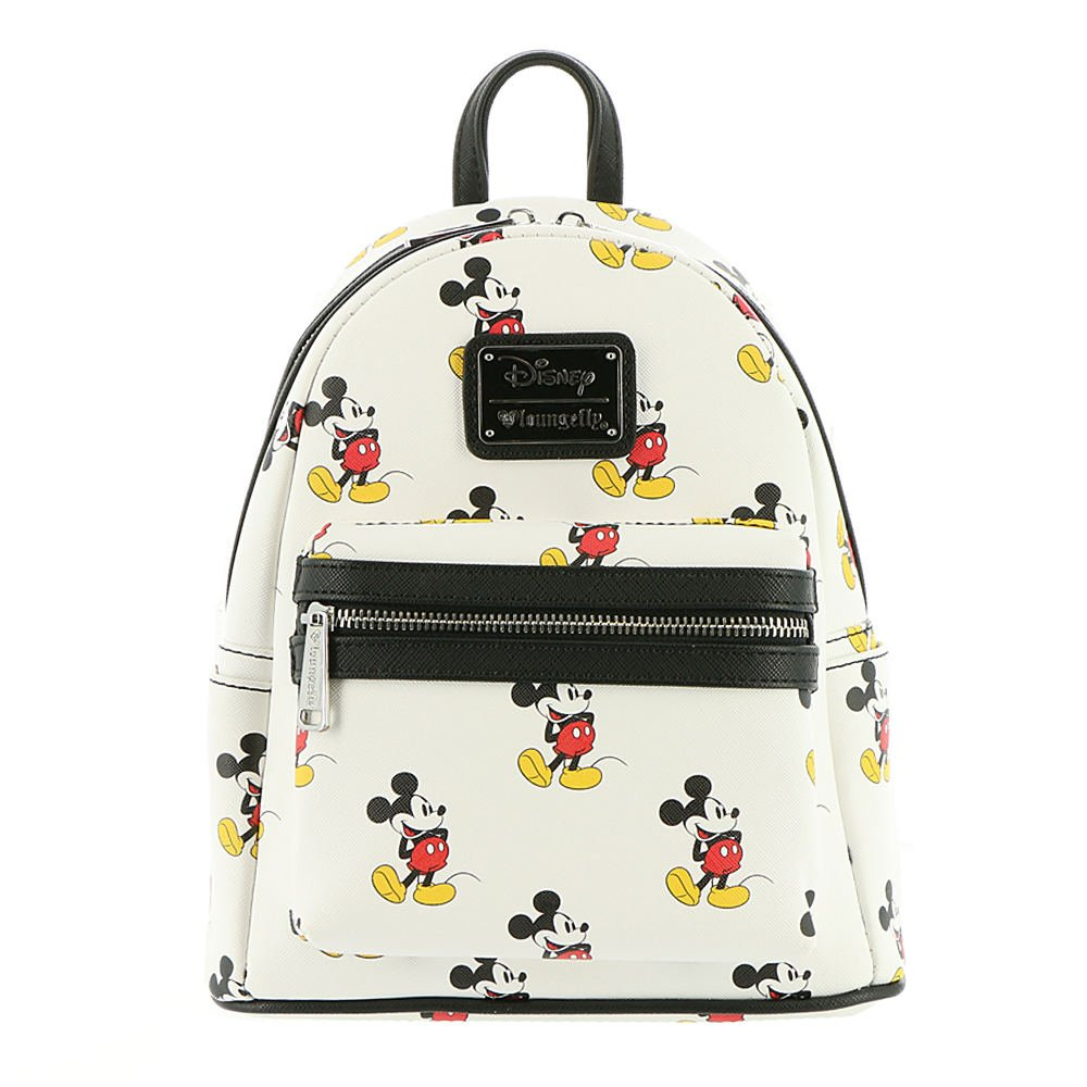 Loungefly x Mickey All Over Mini Backpack White