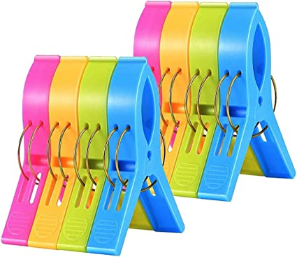 4Pcs//Set Beach Towel Clips Quilt Pegs for Laundry Sunbed Lounger Clothes Pegs