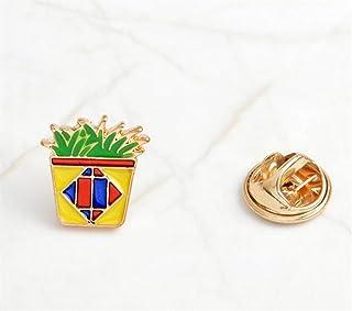 Upstudio Distintivi di gioielli di novità Accessori per bottoni a bottone con spille a bottone verde vegetale