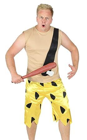 FOXXEO marrón Edad de Piedra Hombres Traje para el Carnaval y el ...