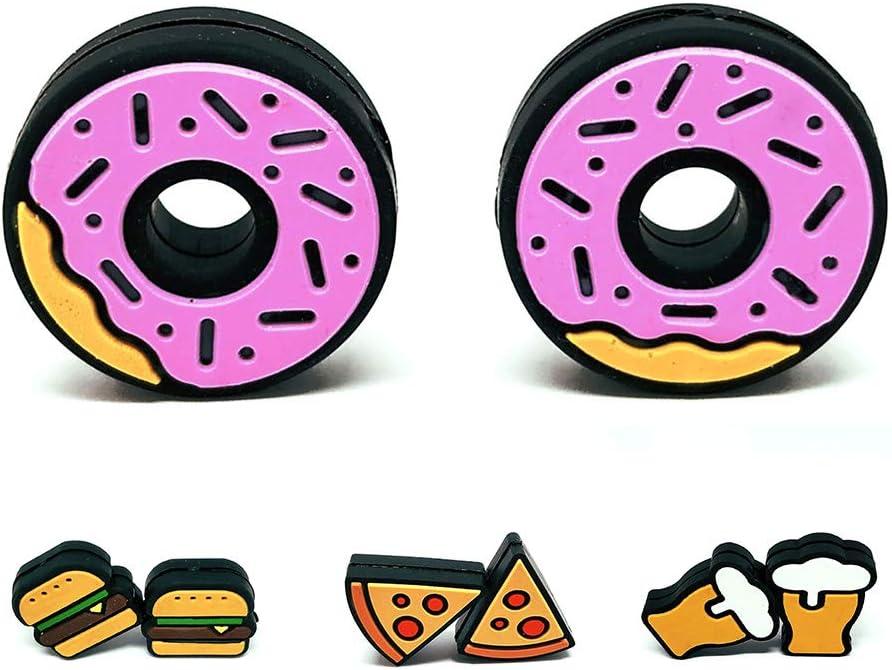 Tennis Feel Healthy Pack • Fast Food Antivibradores • Amortiguadores para Raquetas de Tenis • Cerveza - Hamburgers - Donuts - Pizza • Pack de 2
