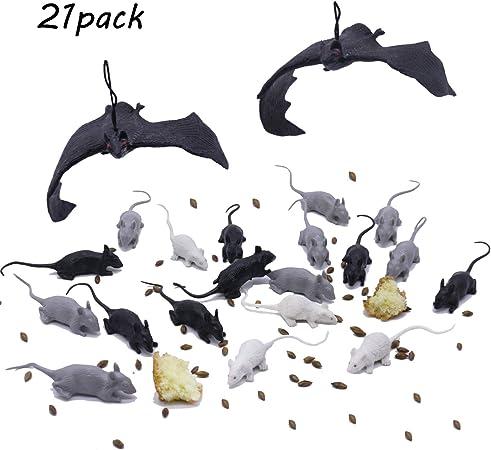 Creature spaventose Topi 8 in un pacchetto festa di Halloween decorazione Prop mouse Roditore