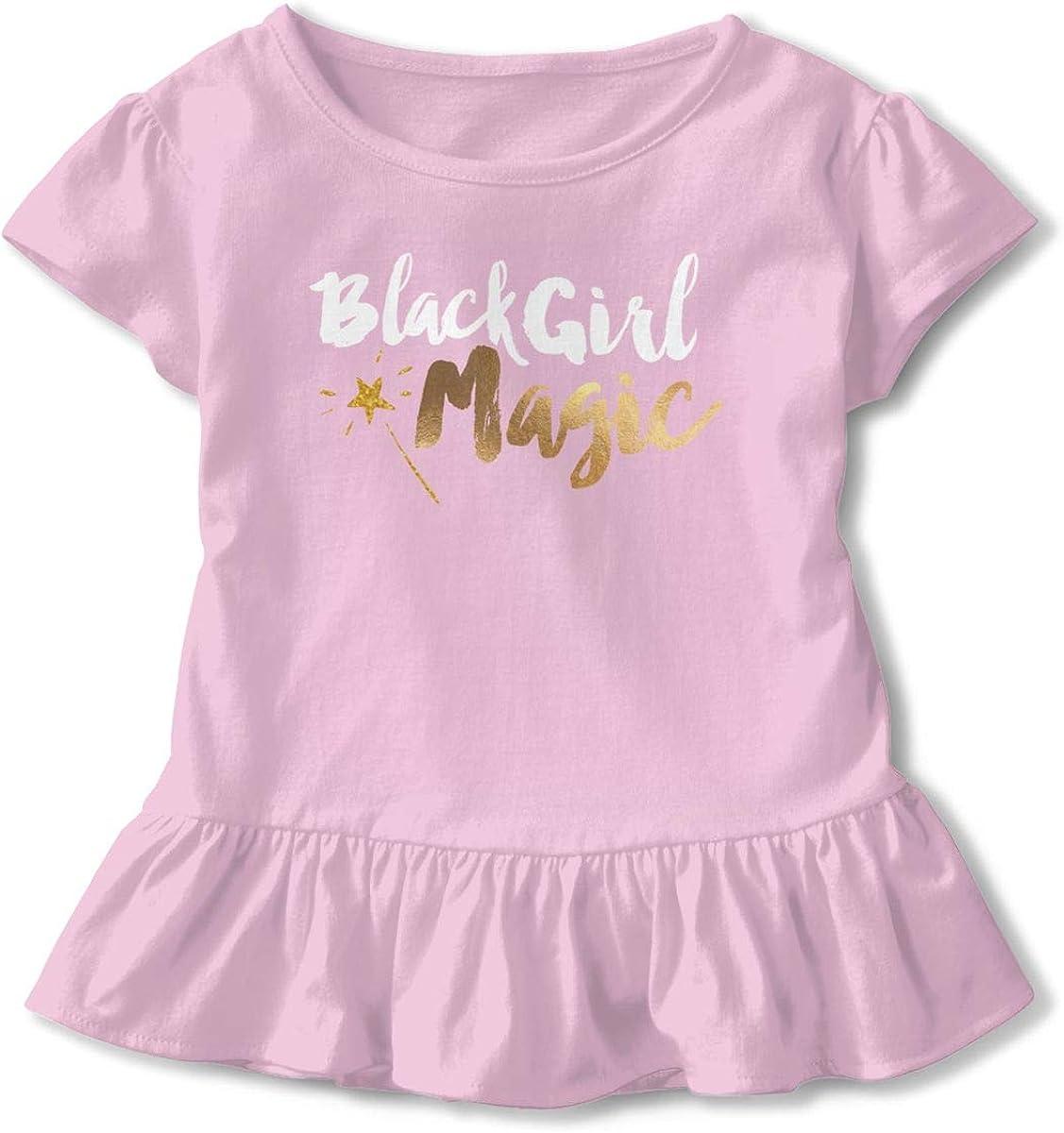 NMDJC CCQ Black Girl Magic Baby Skirts Fashion Kids T Shirt Dress Comfortable Flounces Outfits