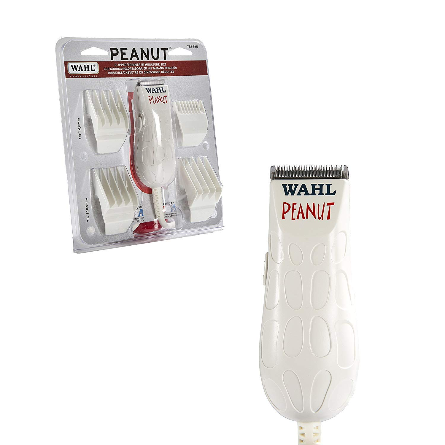Wahl Professional Peanut Clipper/Trimmer #8655 - Great for Professional Stylists and Barbers - White