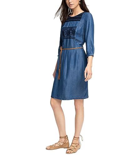 ESPRIT 026ee1e013-Vestito  Donna    Blau (BLUE MEDIUM WASH 902) 40 (Taglia produttore: XS)