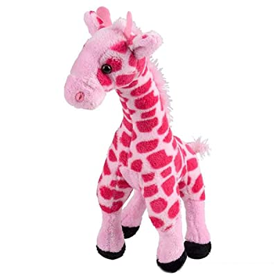 Rhode Island Novelty Pink Giraffe Plush | 11 Inches Long (1-Unit) : Toys & Games