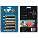 "Kingii 12g CO2 DISPOSABLE CARTRIDGE 3/8"" threaded with 24 threads per inch - 5-Pack"
