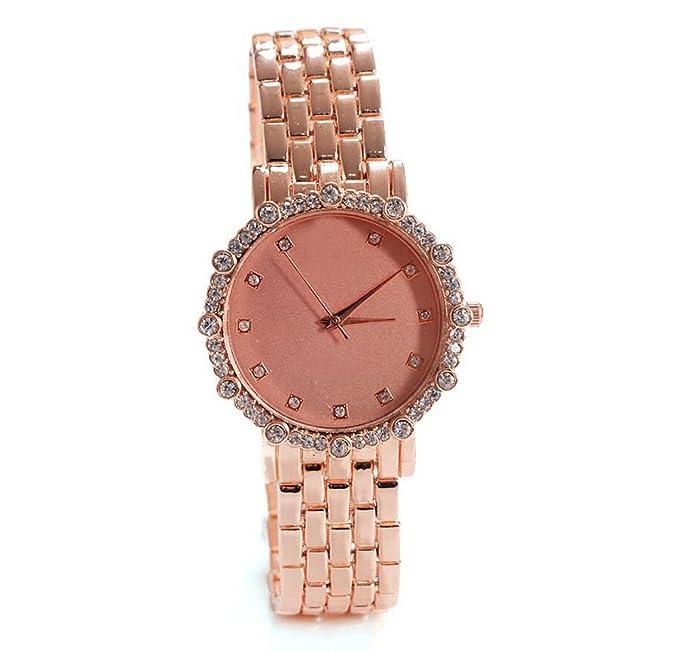 Relojes De Moda Relojes Personalizados Aleación De Acero Brazalete De Diamantes De La Correa Del Reloj Ultra-delgado,Brown-OneSize: Amazon.es: Ropa y ...