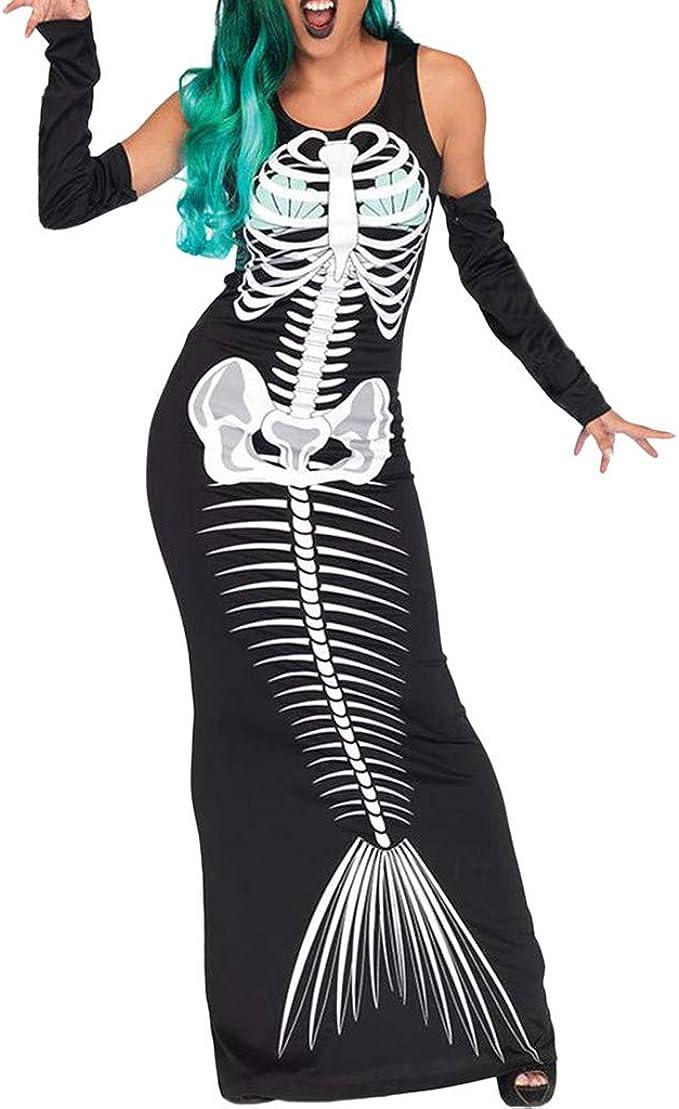 Halloween Skull Bracelet avec anneaux Rétro Horreur Squelette Bracelet Women Fashion