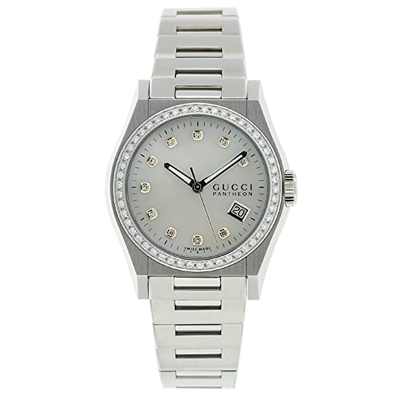 3c111f68e29 Gucci Men s YA115404 115 Pantheon Mother-Of-Pearl Dial Watch  Amazon.ca   Watches