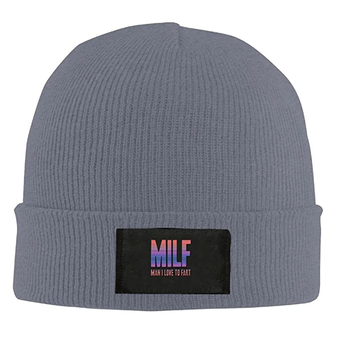 efcd508a16e Milf Man I Love To Fart.PNG New Winter Hats Knitted Twist Cap Thick Beanie