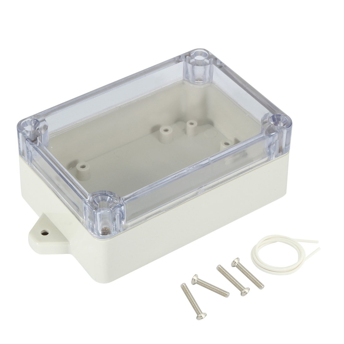 uxcell 100mmx68mmx40mm 3.9x2.7x1.6 ABS Junction Box Universal Project Enclosure w PC Transparent Cover