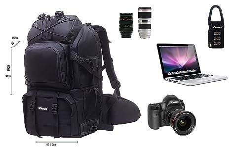 ZORROO Extra Grande de cámara réflex Digital portátil Mochila de ...