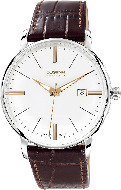 Dugena Premium Festa 7000167 - Reloj analógico de Cuarzo para Hombre, Correa de Cuero Color marrón