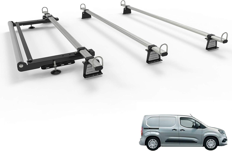 2018-onward For AutoRack Van Roof Rack 3 Bars With Roller. CITROEN BERLINGO Van Mk3