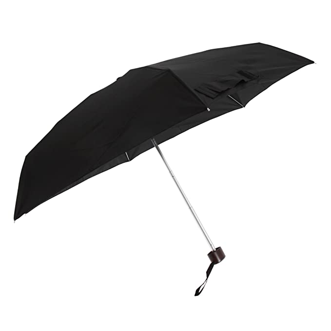Susino - Paraguas plegable unisex (Talla Única/Negro)