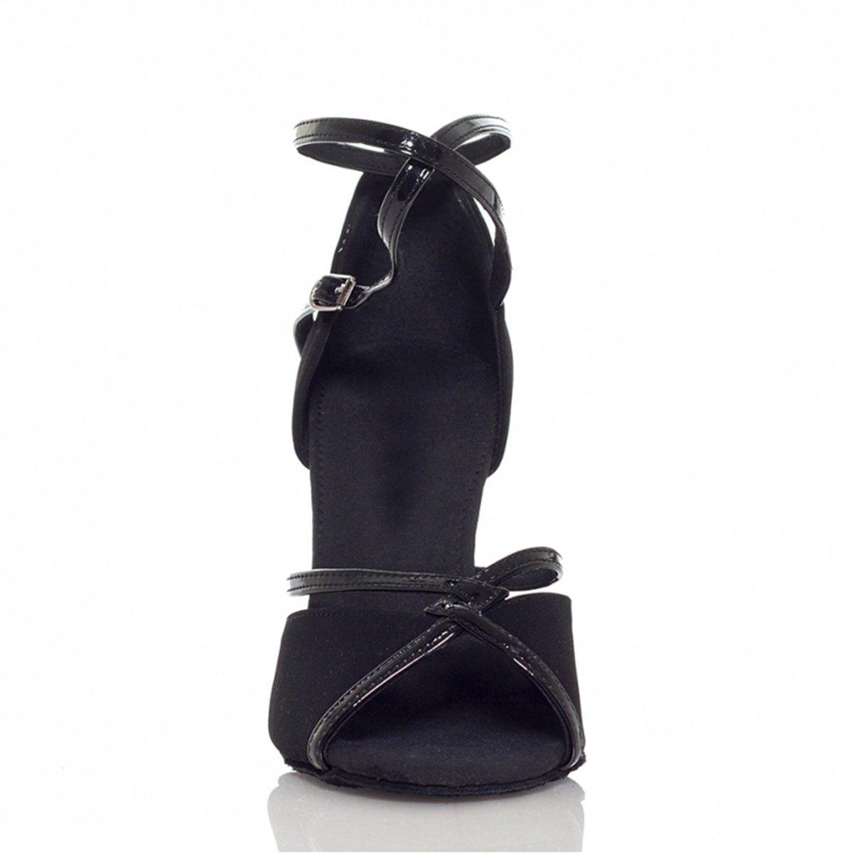 MINITOO L194 Womens High Heel Suede Leather Latin Salsa Ballroom Dance Sandals
