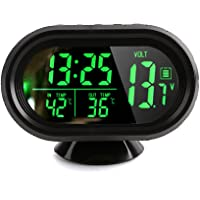 Denshine DC 12V Reloj Digital con Termómetro LCD