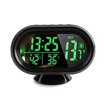 Amazon.es: Denshine DC 12V ~ 24V Reloj Digital con Termómetro LCD Iluminación Pantalla de Voltaje del Medidor de Temperatura para Coche