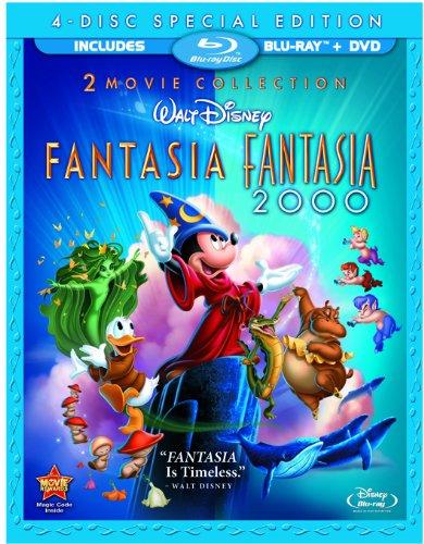 Fantasia / Fantasia 2000 (Four-Disc Blu-ray/DVD Combo) by Disney