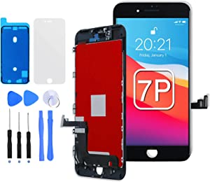 for iPhone 7 Plus Screen Replacement Black, E-SUNG Trade for iPhone 7P LCD Display 3D Touch Digitizer Screen Assembly with Full Repair Tools Kits Waterproof Adhesive Protector 5.5 inch