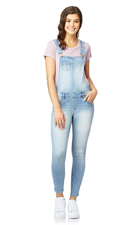 WallFlower Women's Juniors InstaSoft Denim Overalls in Beverly, Small best juniors' overalls