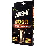 Raquette De Ping Pong Atemi 5000 (Carbone/Bois Balsa) Raquette De Tennis De Table Professionnelle Pour Une Vitesse, Une Rotation Et Un Contrôle Maximum | Pour Débutants Et Niveau Compétition