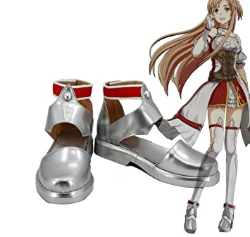 Sword Art Online Hollow Realization Yuuki Asuna Cosplay Shoes Boots Custom Made